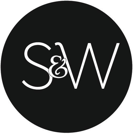 Blue, white, gold and black geometric ashtray